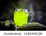 organic bitter gourd  or bitter ... | Shutterstock . vector #1184349130
