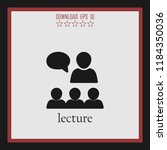 lecture vector icon | Shutterstock .eps vector #1184350036