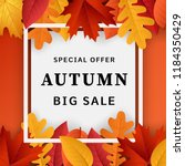 autumn big sale concept... | Shutterstock . vector #1184350429