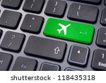 A Plane Sign On Keyboard  To...