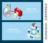digital health concept | Shutterstock .eps vector #1184355613