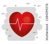 heart cardio medical icon | Shutterstock .eps vector #1184359276
