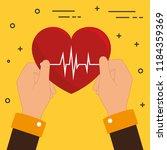 hands with heart cardio | Shutterstock .eps vector #1184359369