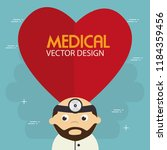 heart cardio with doctor... | Shutterstock .eps vector #1184359456