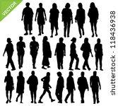 women silhouette vector | Shutterstock .eps vector #118436938