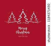 christmas trees lettering... | Shutterstock .eps vector #1184371450
