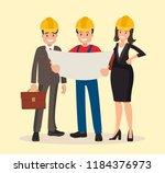engineer customer and... | Shutterstock .eps vector #1184376973