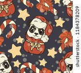 seamless pattern with panda... | Shutterstock .eps vector #1184378209