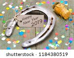 Stock photo horse shoe as talisman for new year s 1184380519