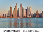 Dubai Marina Sunset Skyline In...