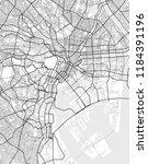 vector map of tokyo in black... | Shutterstock .eps vector #1184391196