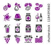 grape icon set | Shutterstock .eps vector #1184393860
