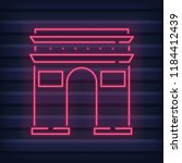 triumphal arch made from neon... | Shutterstock .eps vector #1184412439