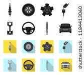 vector illustration of auto and ... | Shutterstock .eps vector #1184413060