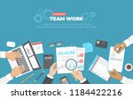 business meeting and... | Shutterstock .eps vector #1184422216