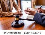 judge gavel with justice... | Shutterstock . vector #1184423149