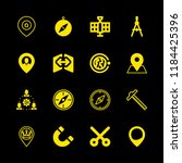 map icons set with placeholder  ... | Shutterstock .eps vector #1184425396