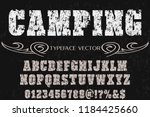 font handcrafted typeface... | Shutterstock .eps vector #1184425660