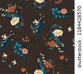 seamless floral ditsy pattern... | Shutterstock .eps vector #1184428570