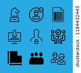 team icons set with document... | Shutterstock .eps vector #1184432443
