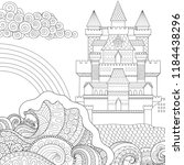 coloring pages. coloring book... | Shutterstock .eps vector #1184438296