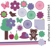 scrapbook objects on white... | Shutterstock .eps vector #118444264