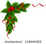 christmas holly | Shutterstock .eps vector #118444303