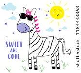 text baby girl tee sun cloud...   Shutterstock .eps vector #1184443363