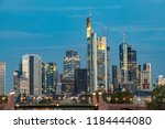 skyline of frankfurt am main... | Shutterstock . vector #1184444080