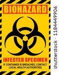 biohazard illustration label.... | Shutterstock .eps vector #1184449906