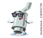 cartoon car exhaust pipe with... | Shutterstock .eps vector #1184451730