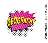word geography in colorful... | Shutterstock .eps vector #1184459203