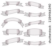 set of ten ribbons and banners... | Shutterstock . vector #1184466340