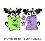 vector cool monsters. hand... | Shutterstock .eps vector #1184468383