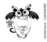 vector cool monster. hand drawn ... | Shutterstock .eps vector #1184468389