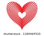 red hearts pattern forming the... | Shutterstock .eps vector #1184469310
