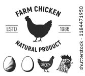 vintage chicken meat label ... | Shutterstock .eps vector #1184471950