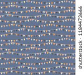 lovely seamless bunting repeat... | Shutterstock .eps vector #1184473666