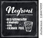 lettering name of cocktail... | Shutterstock .eps vector #1184474959