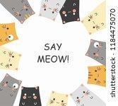 cute cat cartoons | Shutterstock .eps vector #1184475070