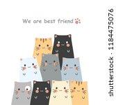 cute cat cartoons | Shutterstock .eps vector #1184475076