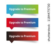 upgrade to premium. call to... | Shutterstock .eps vector #1184475730