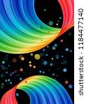 multicolored curve element on... | Shutterstock . vector #1184477140