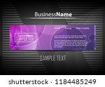 violet purple background. blue... | Shutterstock .eps vector #1184485249