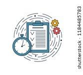 vector business illustration of ... | Shutterstock .eps vector #1184485783