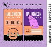halloween tickets template | Shutterstock .eps vector #1184492233