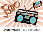 old vintage retro hippies is a... | Shutterstock .eps vector #1184493850