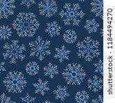 christmas seamless doodle... | Shutterstock .eps vector #1184494270