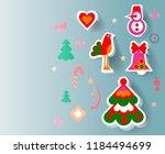 christmas background. vector | Shutterstock .eps vector #1184494699
