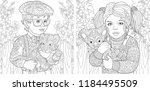 children. coloring pages.... | Shutterstock .eps vector #1184495509